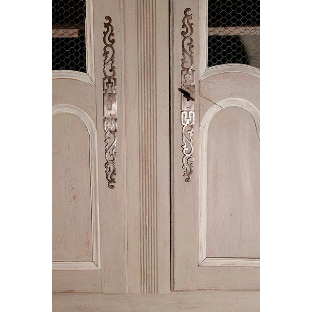 French Provincial Louis XV Style Grey Painted Armoire - Image 3 of 10