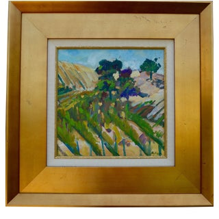 "Martha Holden ""Vineyard in Paso Robles"" Plein Air Oil Painting"