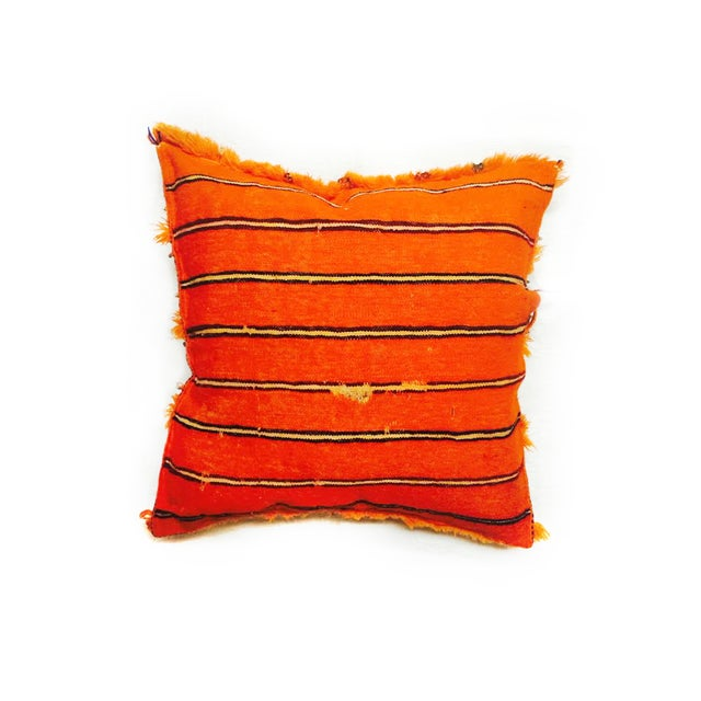 Image of Orange Moroccan Accent Pillow