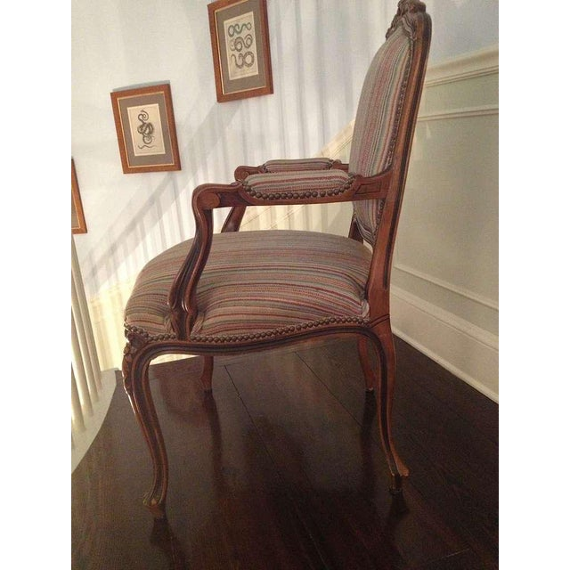 Pair of French Walnut Upholstered Armchairs - Image 2 of 11