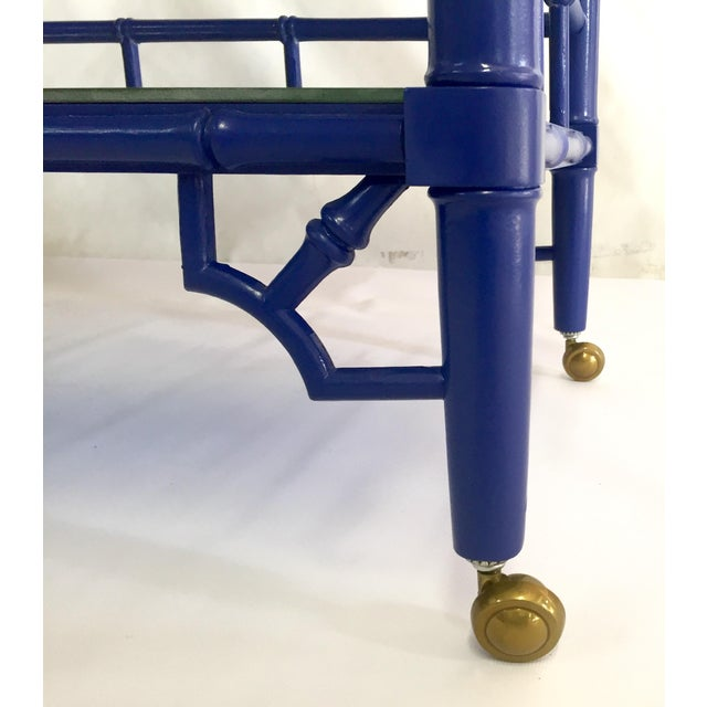 Thomasville Royal Blue Lacquered Server - Image 9 of 11