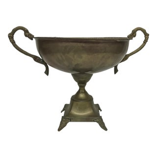 Vintage Handled Brass Trophy Cup