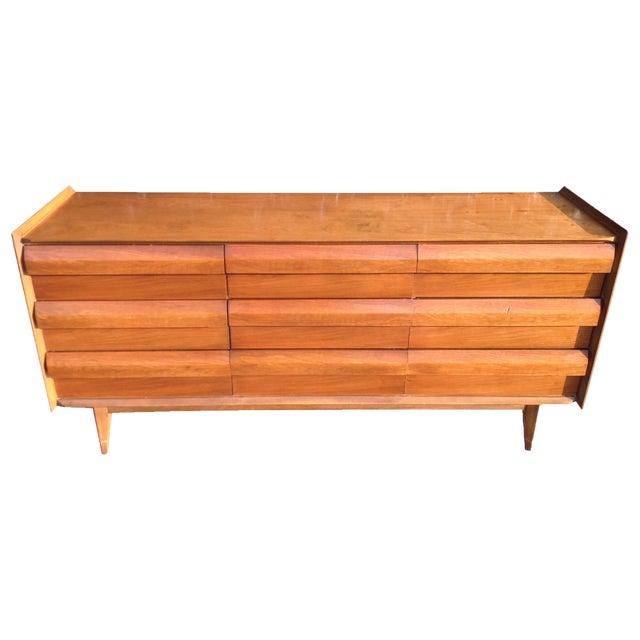 Mid Century Walnut Lane Furniture Dresser Chairish