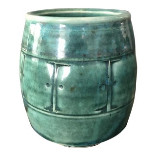 Turquoise Small Clay Vase