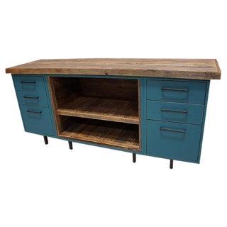 Modern Barn Wood Media Credenza Dresser