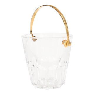 Ultra-Luxe Crystal Ice Pail with 24-Karat Gilt Handle by Baccarat