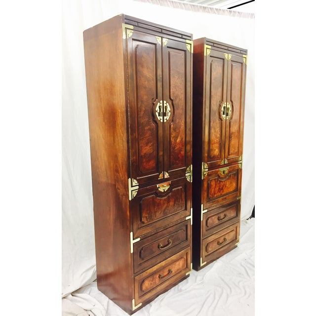 Mid-Century Asian Style Cabinets - A Pair - Image 5 of 11