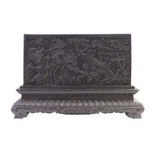 Carved Rosewood Floral Accent Box