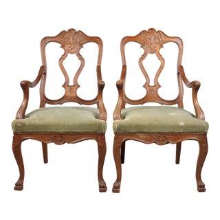 1920s Austrian Louis XV-Style Chairs - A Pair