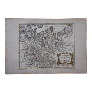 18th C. Antique French Map-Upper & Lower Saxony