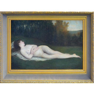 19th Century Reclining Nude Painting
