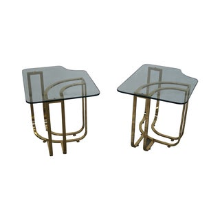 DIA Brass & Glass Side Tables - Pair