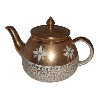 White & Gold China Teapot