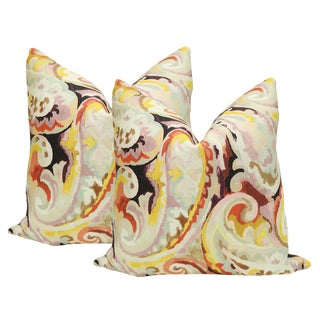"22"" Paisley Print Pillows - a Pair"