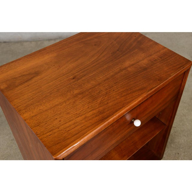 Drexel Declaration Walnut Nightstands- A Pair - Image 5 of 7