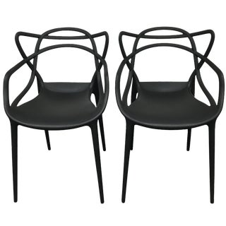 Black Kartell Masters Chairs - A Pair