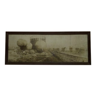 "Vintage ""Balloon Races"" Black & White Photograph"