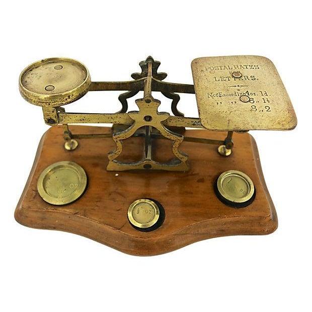 English Brass & Oak Postal Scale - Image 1 of 2