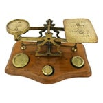 Image of English Brass & Oak Postal Scale