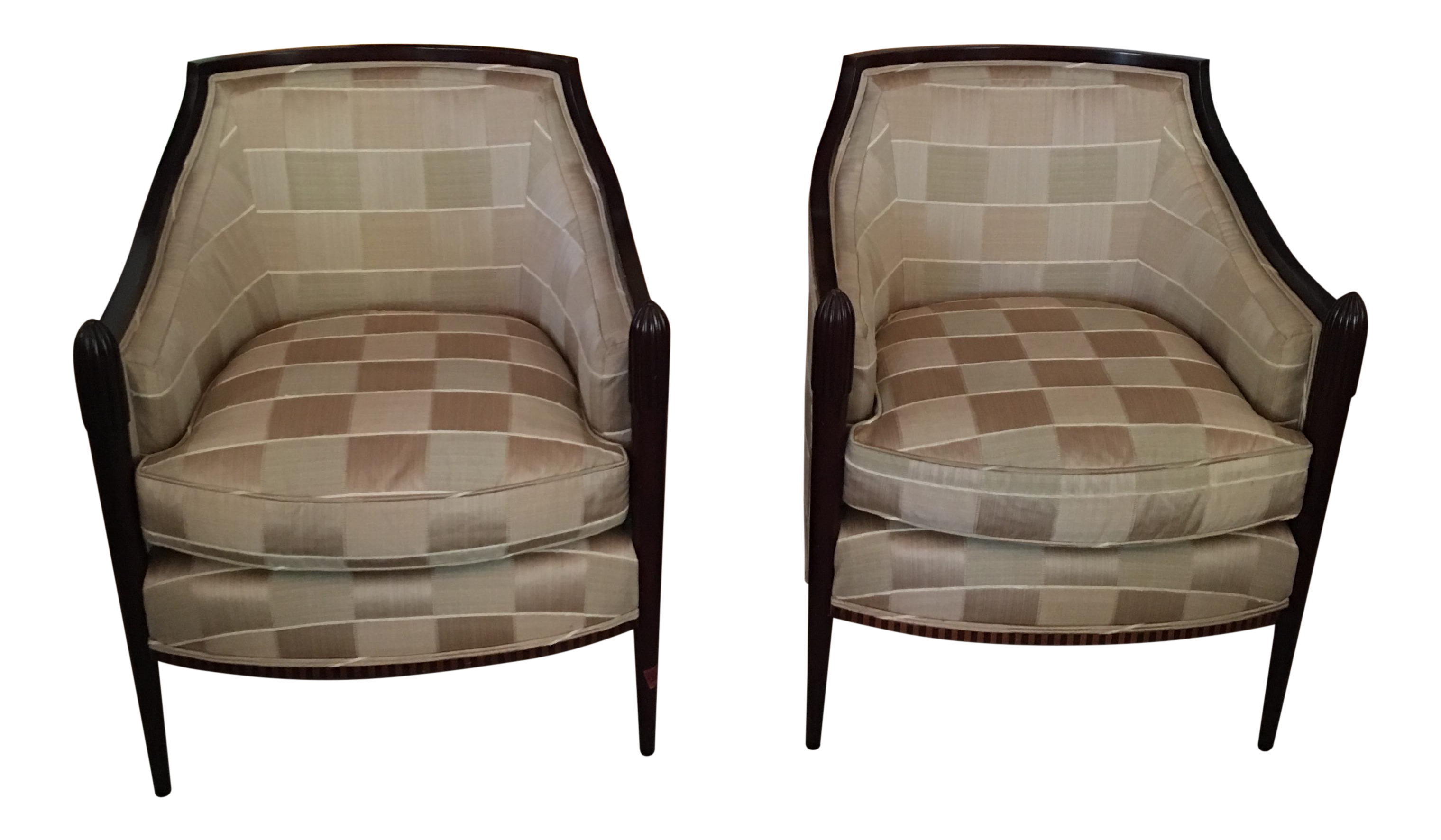 Barbara Barry Deco Lounge Chairs   A Pair