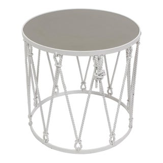 Iron Drum Side Table