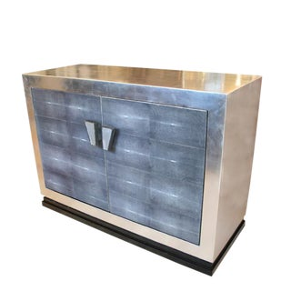 Silver leaf and Galuchat Sideboard