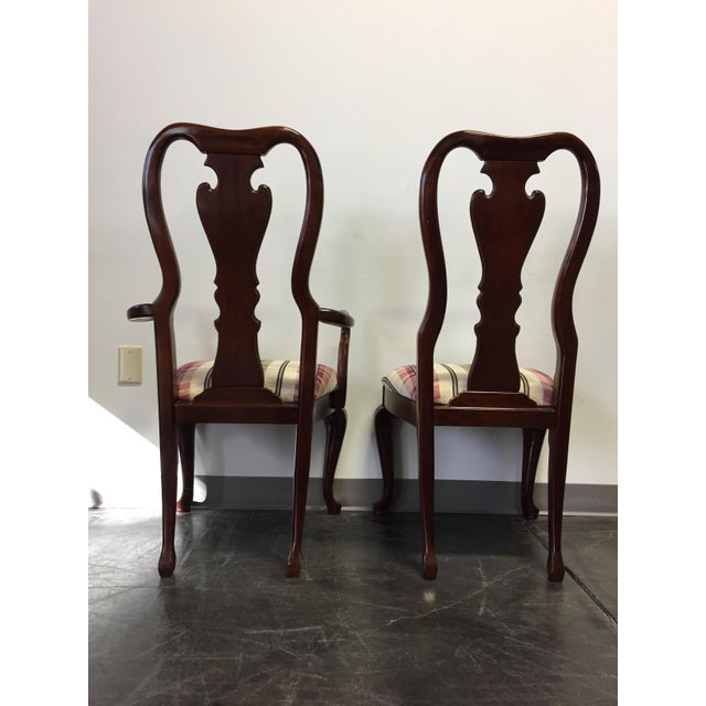 Queen Anne Dining Room Chairs: Cherry Queen Anne Dining Chairs - Set Of 8