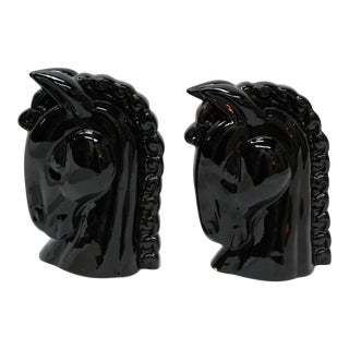 Horse Head Bookends - A Pair