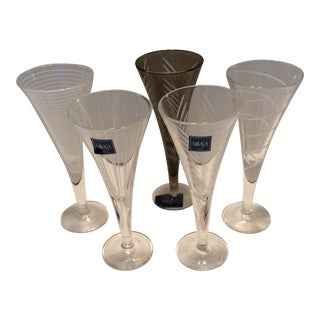 Vintage Mikasa Etched Crystal Cordial Glasses - Set of 4
