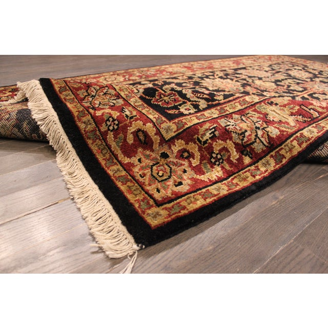 """Hand-Knotted Kashan Wool Rug - 5'1"""" X 7'10"""" - Image 3 of 5"""