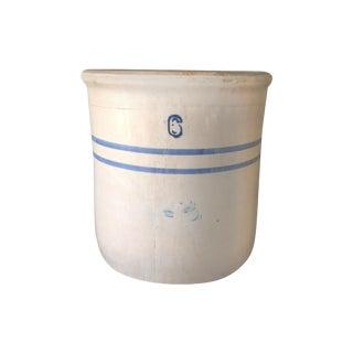 Vintage Blue & White Stoneware Crock