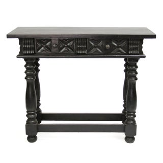 Spanish Carved 2-Drawer Console/End Table