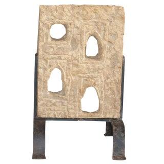 Sandstone Haveli Jali Panel On Stand