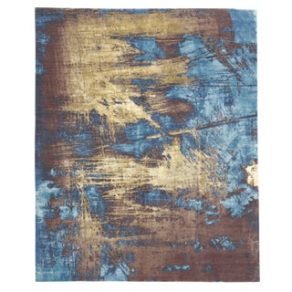 "Contemporary Abstract Scratch Texture Rug - 8'7"" x 9'11"""