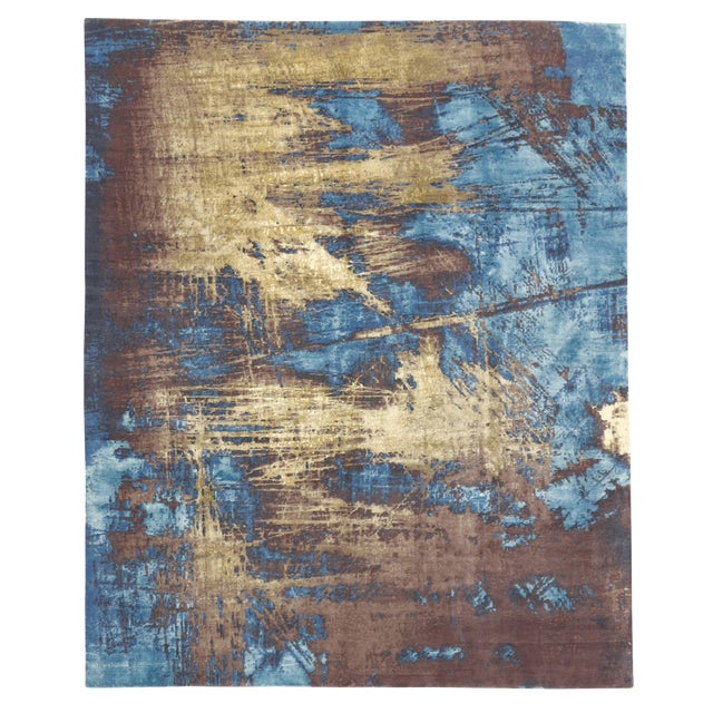 """Contemporary Abstract Scratch Texture Rug - 8'7"""" x 9'11"""" - Image 1 of 7"""