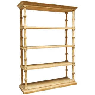 Rustic Washed Pine Bookcase