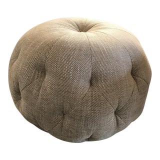 Cisco Home Custom Cashmere Gray Wool Pouf Ottoman