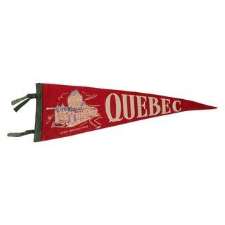 Quebec Chateau Hotel Vintage 1950s Felt Flag