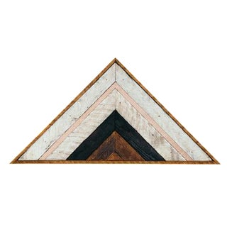 Triangular Reclaimed Wood Art