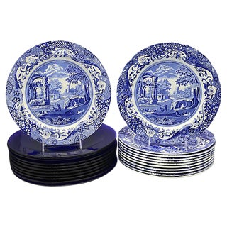 Spode Italian Plates w/ Chargers - 24 Pieces