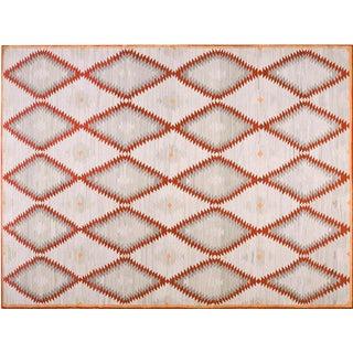 Diamond Navajo Style Wool Rug - 9′ × 12′