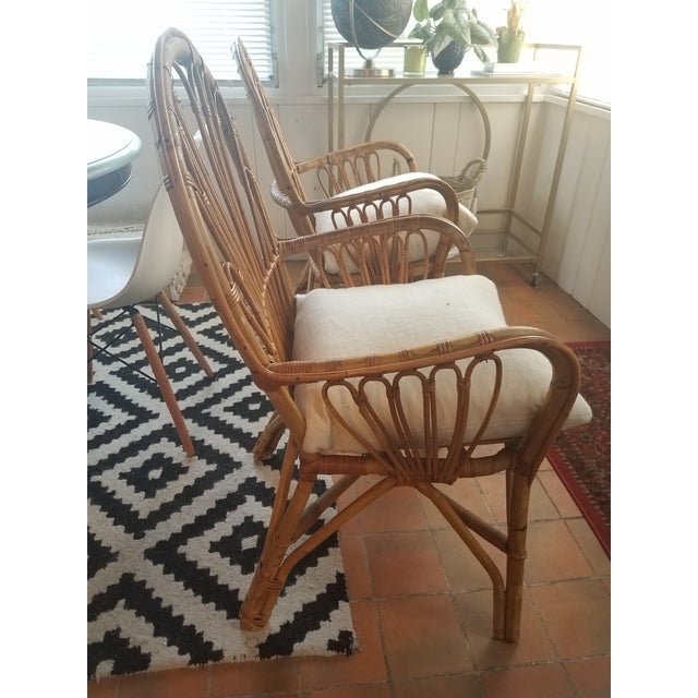 Vintage Rattan Chairs - A Pair - Image 4 of 5