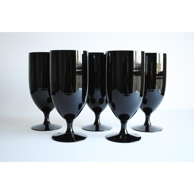 Black Fostoria Glasses - Set of 5 - Image 3 of 5