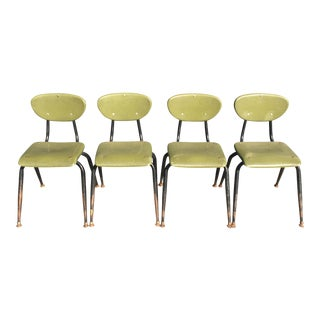 Mid-Century Metal Kids Chairs - Set of 4