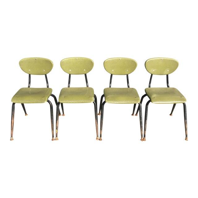 Mid-Century Metal Kids Chairs - Set of 4 - Image 1 of 5