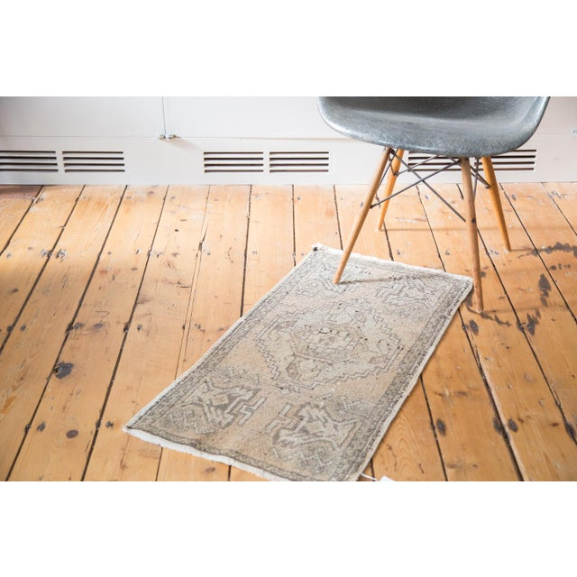 "Distressed Oushak Rug Mat - 1'8"" X 3'2"" - Image 6 of 7"