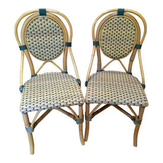 Green Palecek French Bistro Chairs - A Pair