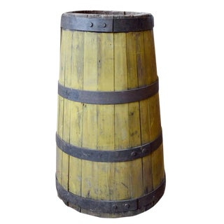 19th Century Wood and Iron Graduated Barrel