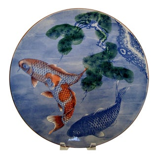 Hand Painted Japanese Koi Platter