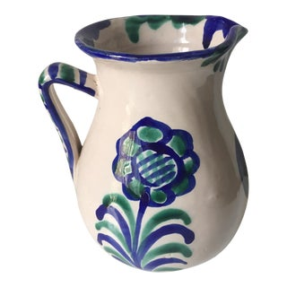 Spanish Grenadine Faience Pitcher
